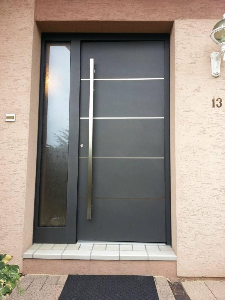 Fabrication de porte d 39 entr e monobloc ou double ventaux Porte d entree bricoman